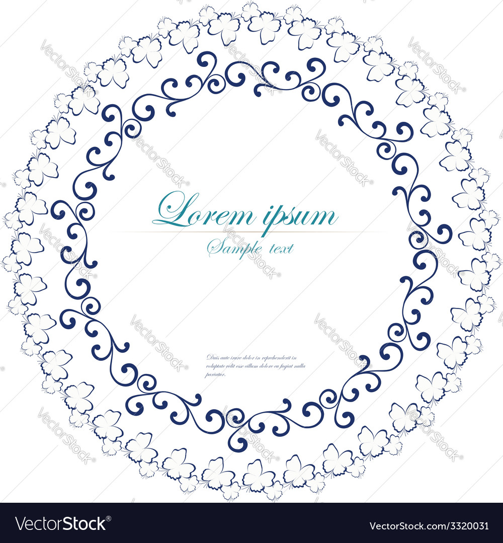 Decorative round frame abstract floral ornament vector | Price: 1 Credit (USD $1)