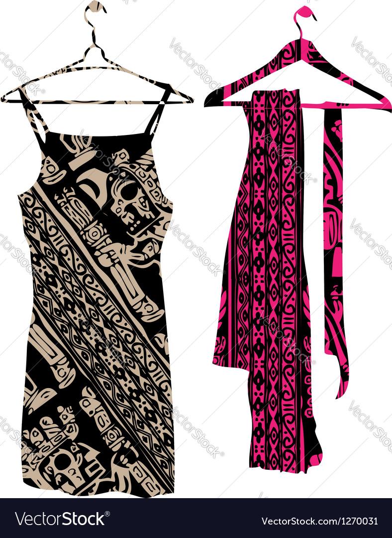 Dress clothes hanger vector | Price: 1 Credit (USD $1)