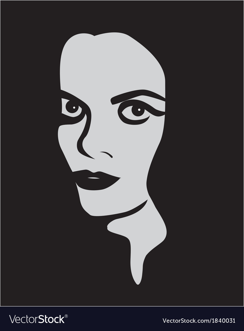 Female face with expressive eyes vector | Price: 1 Credit (USD $1)