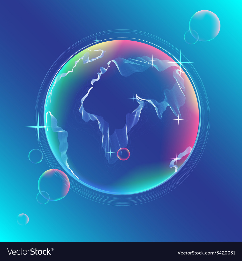 Globe color abstract vector | Price: 1 Credit (USD $1)