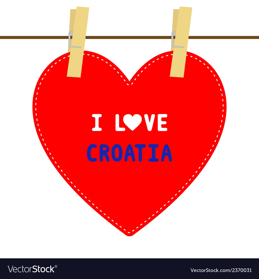 I love croatia6 vector | Price: 1 Credit (USD $1)