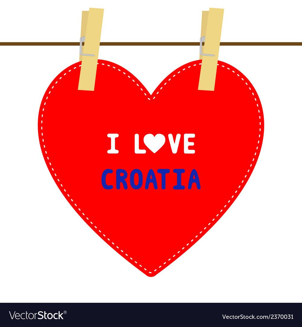 I love croatia6 vector | Price: 1 Credit (USD $1)