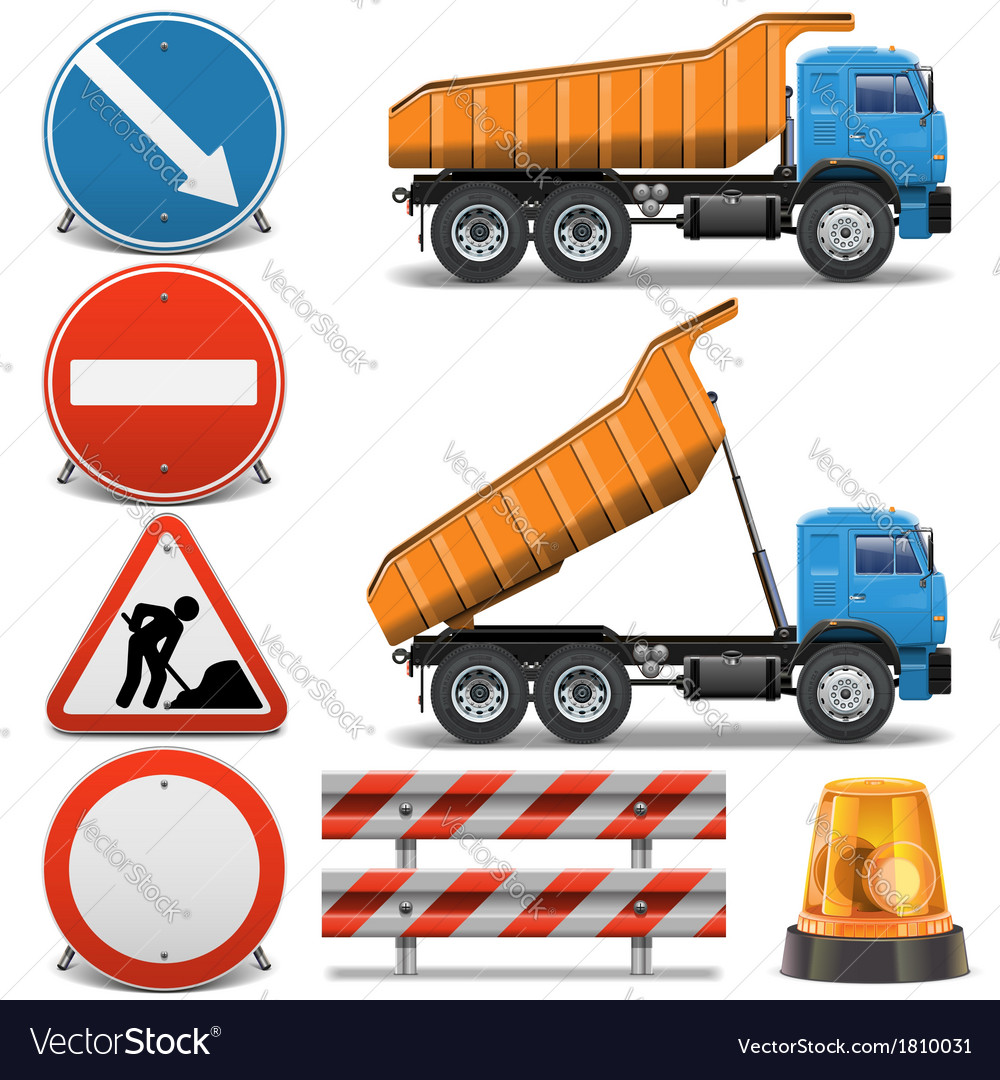 Road construction icons set 2 vector | Price: 3 Credit (USD $3)