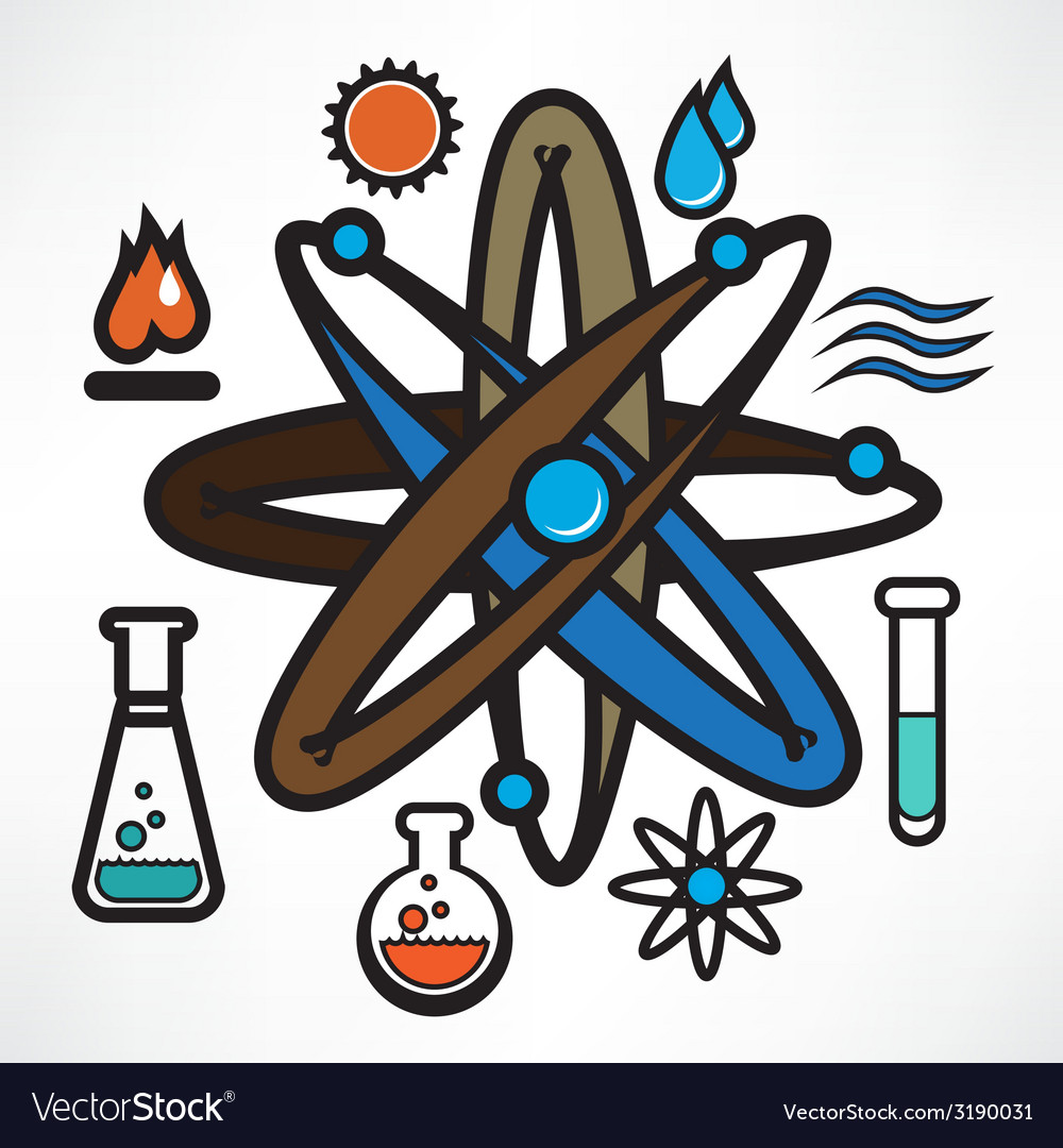 Science trendy icons pack for design vector | Price: 1 Credit (USD $1)
