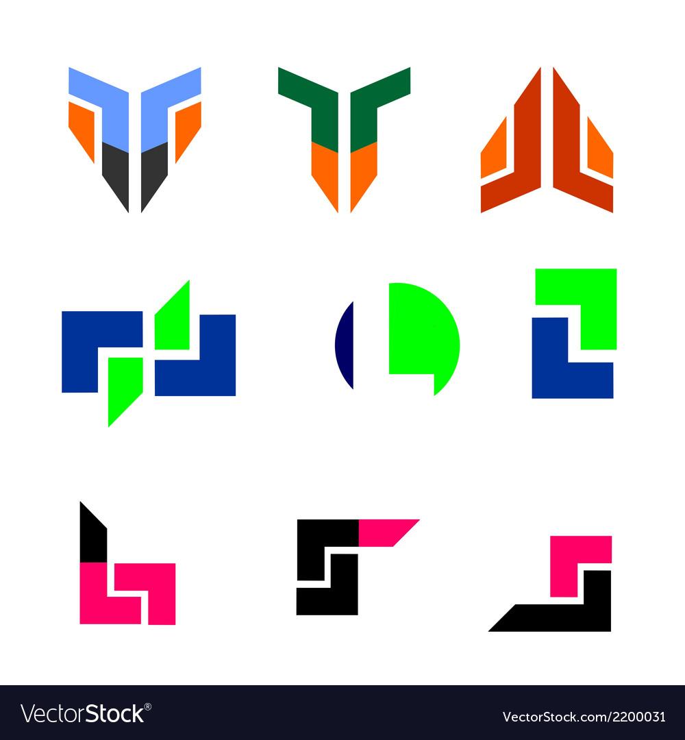Technology logo set vector | Price: 1 Credit (USD $1)