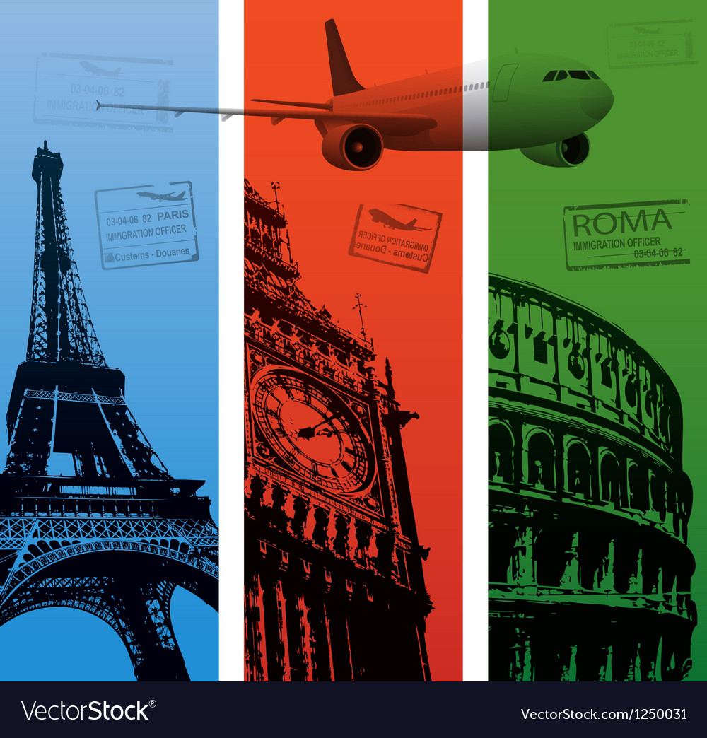 Travel background vector | Price: 1 Credit (USD $1)