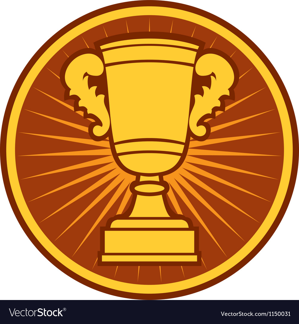Trophy cup symbol vector | Price: 1 Credit (USD $1)