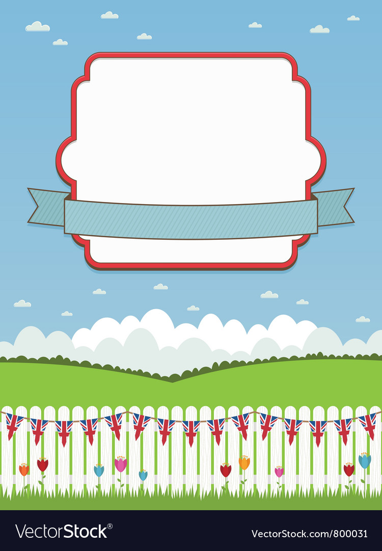 Uk picket fence and frame vector | Price: 1 Credit (USD $1)