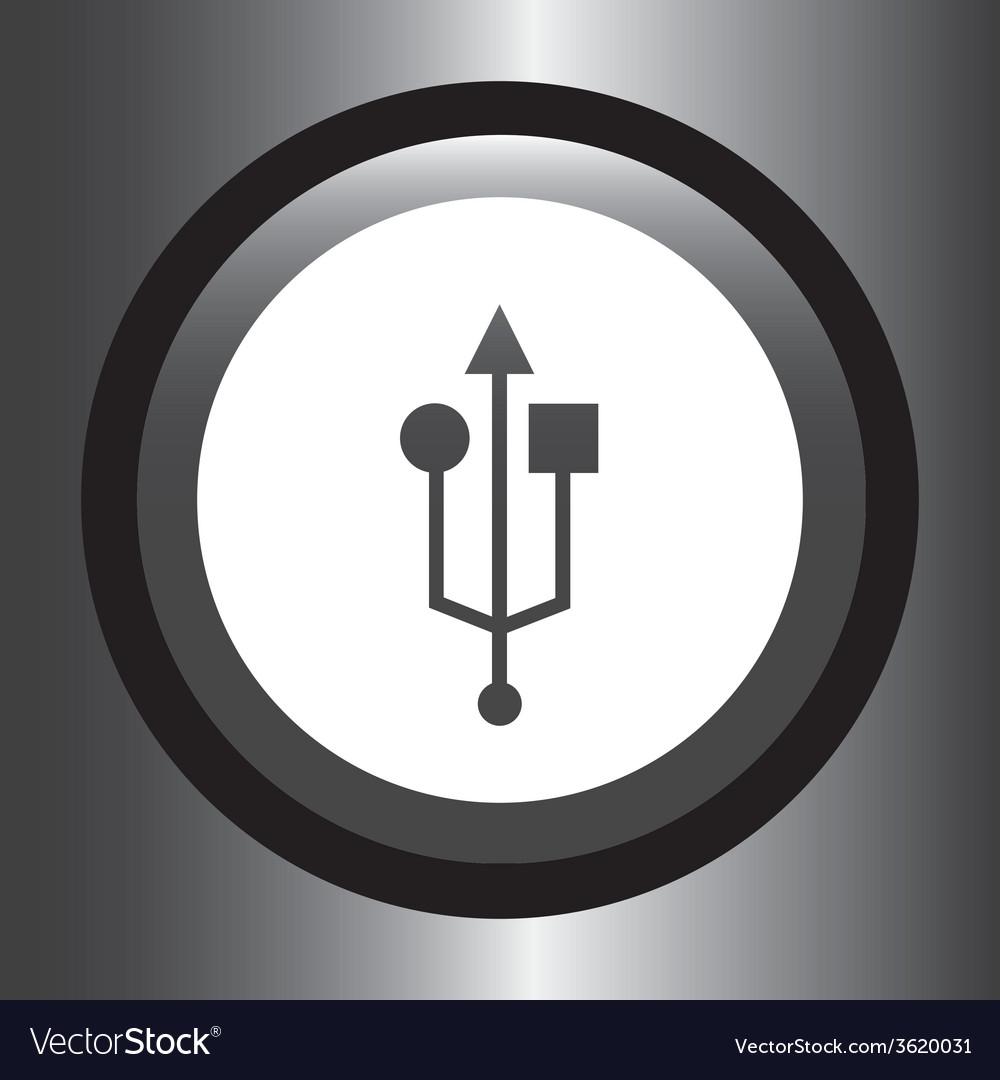 Usb icon vector   Price: 1 Credit (USD $1)