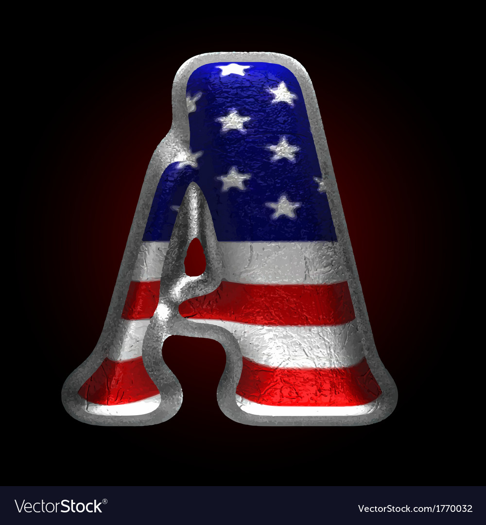 American metal figure a vector | Price: 1 Credit (USD $1)