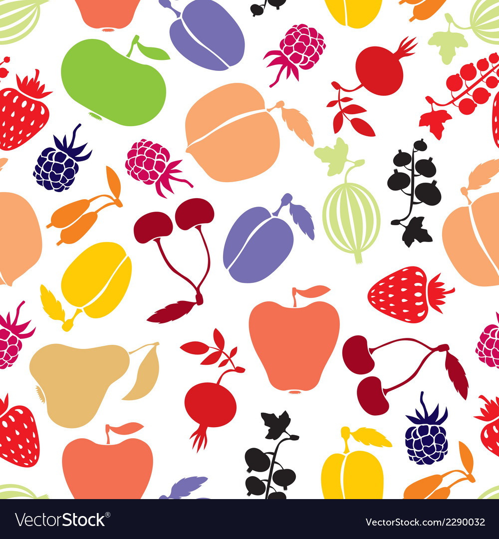 Berries pattern vector   Price: 1 Credit (USD $1)