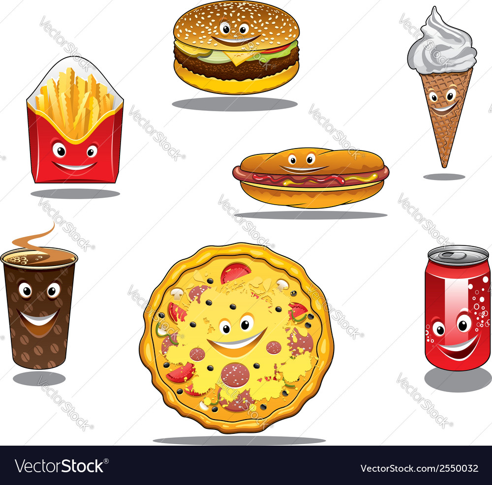Fast food and takeaway food icons vector | Price: 1 Credit (USD $1)