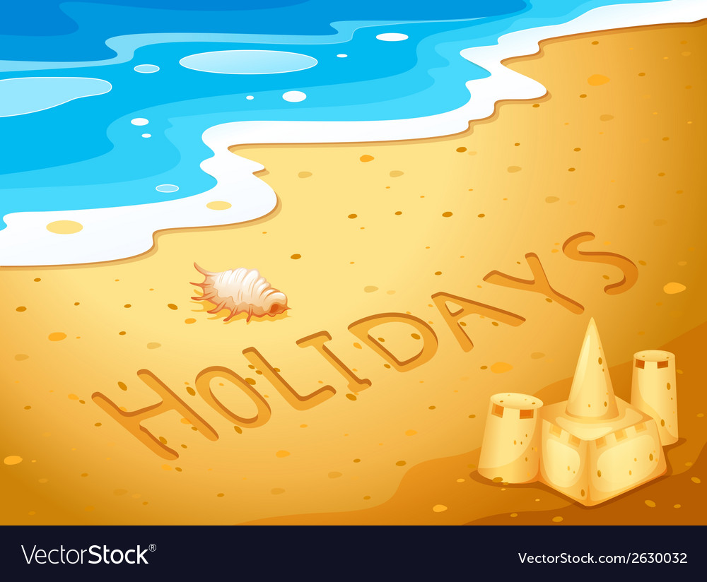Holiday at the beach vector | Price: 1 Credit (USD $1)