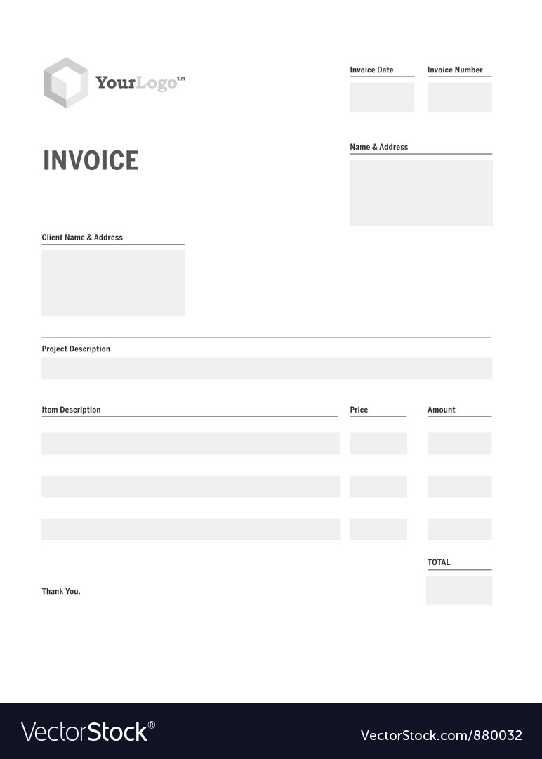 Invoice template vector | Price: 1 Credit (USD $1)