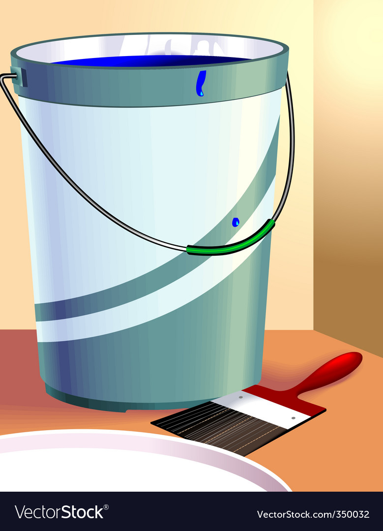 Paint and container vector | Price: 1 Credit (USD $1)