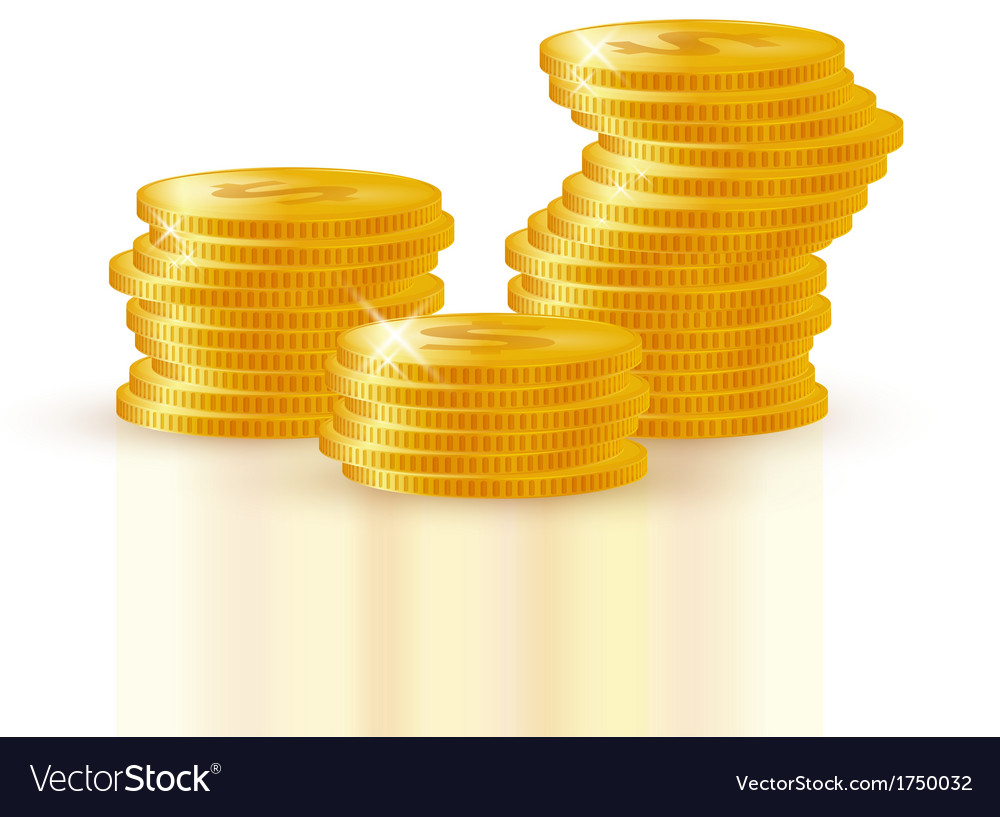 Pile of gold coins vector | Price: 1 Credit (USD $1)