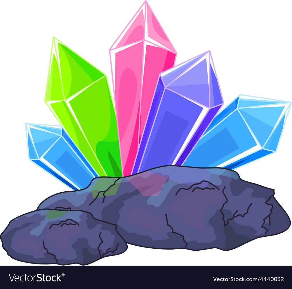 Quartz crystal vector