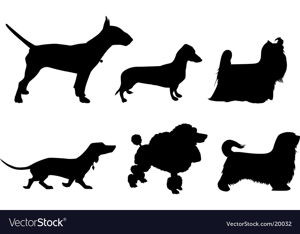 Silhouette of dogs vector | Price: 1 Credit (USD $1)