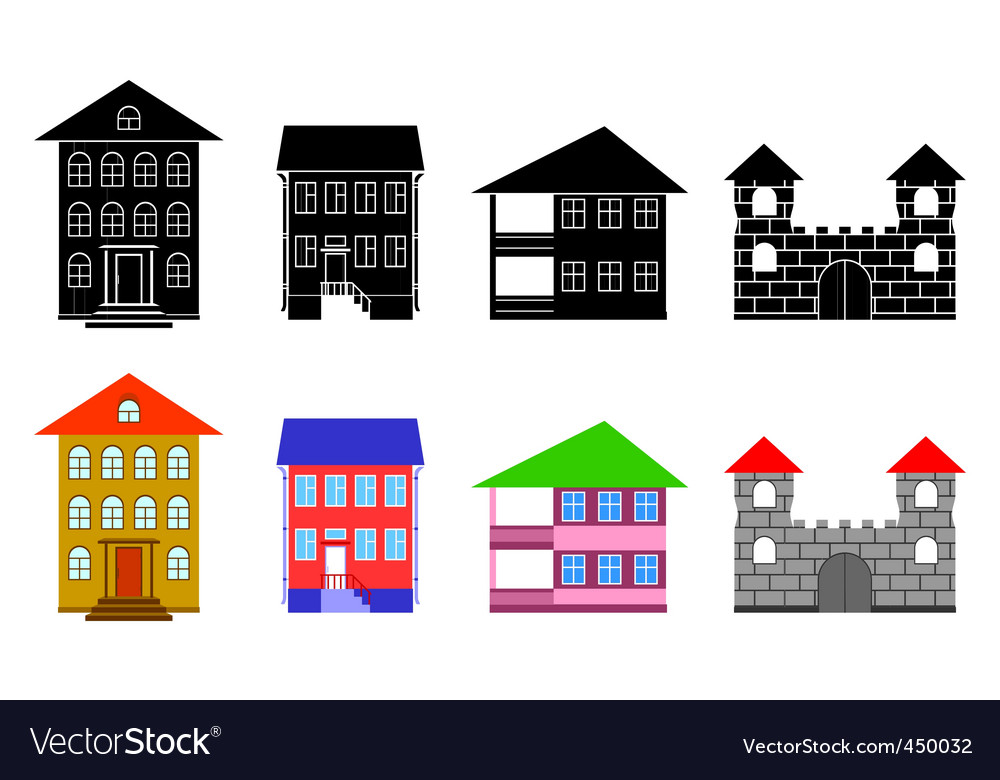 Small houses vector | Price: 1 Credit (USD $1)