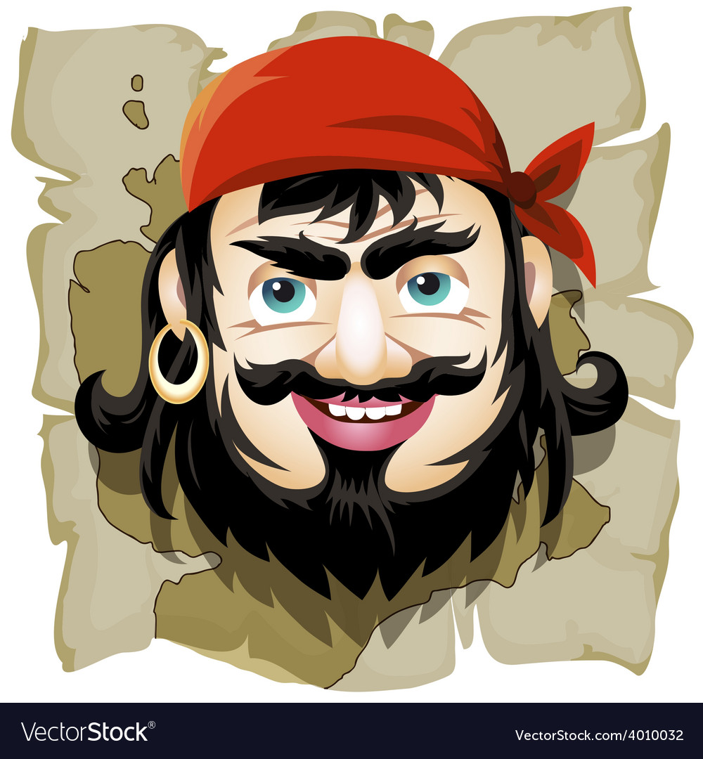 The smiling pirate vector | Price: 1 Credit (USD $1)