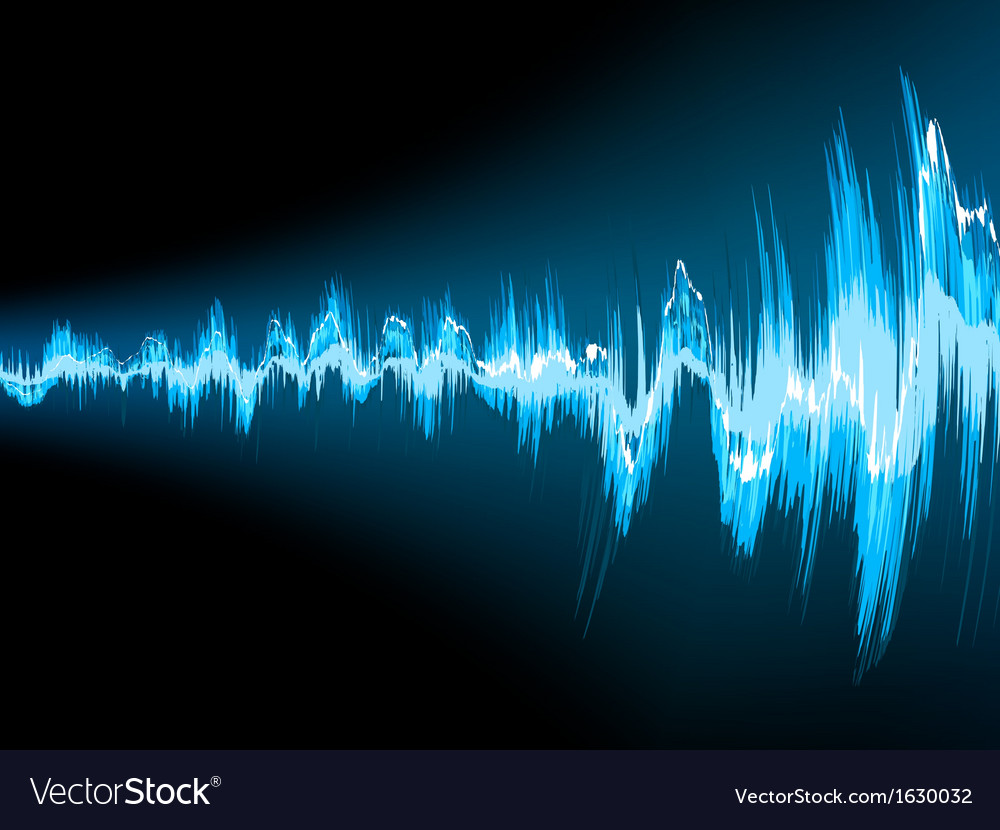 Sound wave abstract background eps 10 vector | Price: 1 Credit (USD $1)