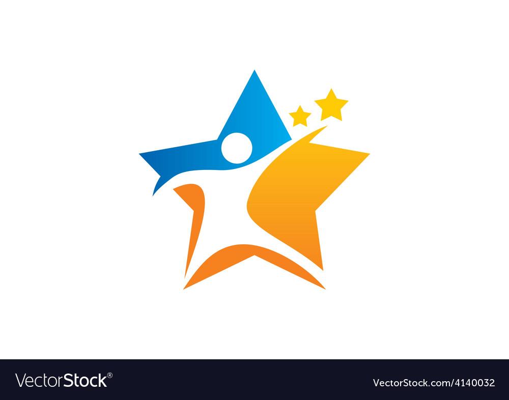 Star people sport logo vector   Price: 1 Credit (USD $1)