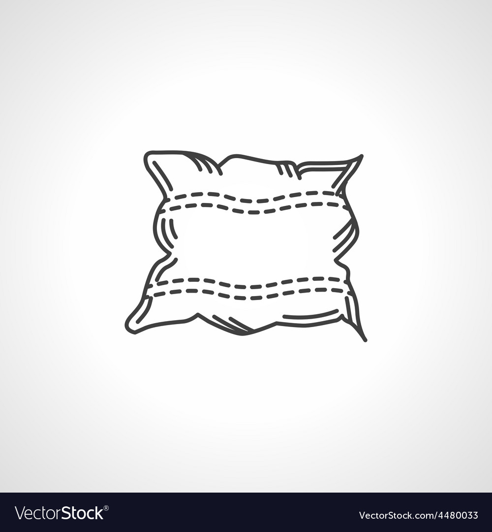 Black icon for pillow vector | Price: 1 Credit (USD $1)