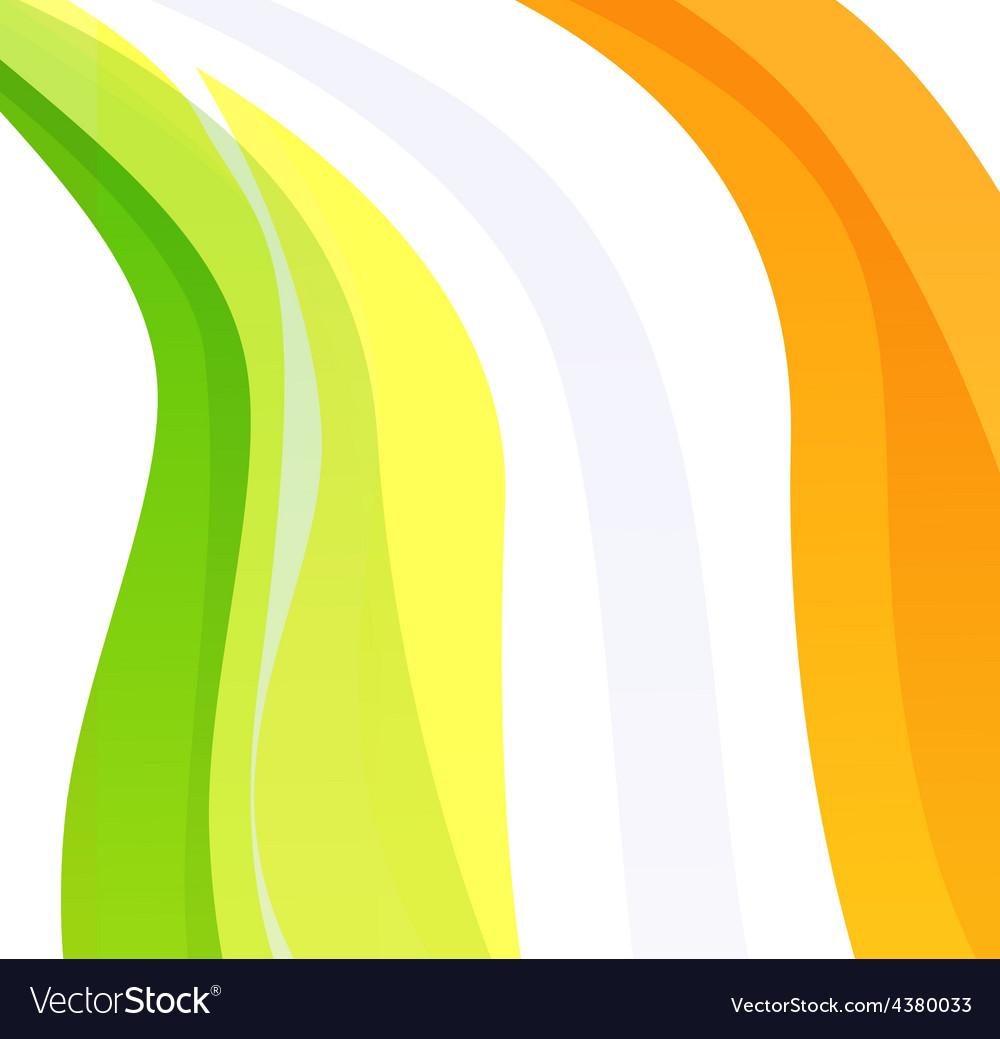 Creative flag of ireland vector | Price: 1 Credit (USD $1)