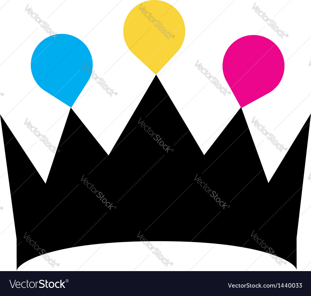 Crown with colorful droplets logo concept vector | Price: 1 Credit (USD $1)