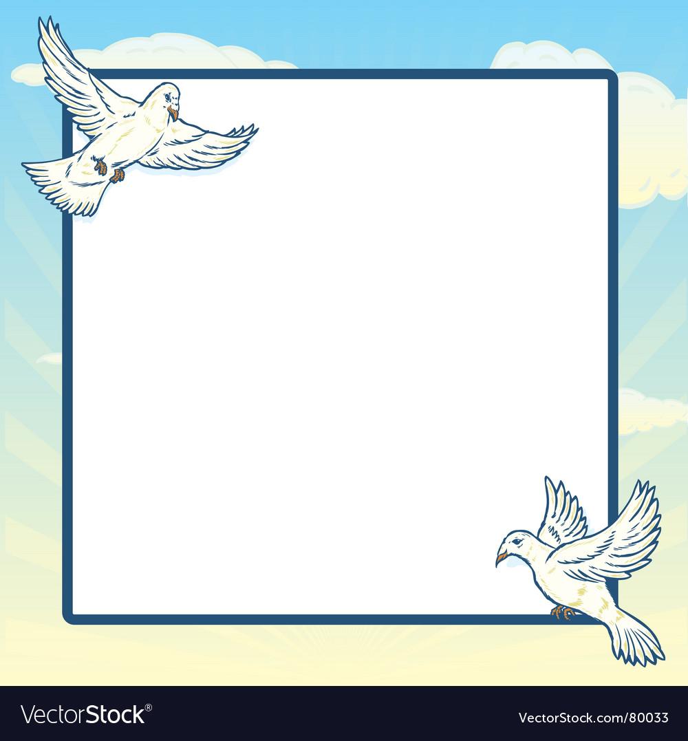 Dove in flight frame design vector | Price: 1 Credit (USD $1)