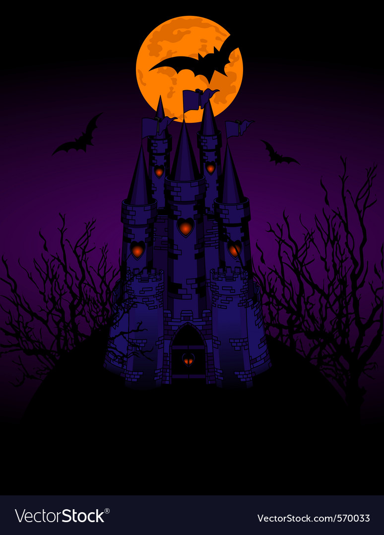 Halloween haunted castle vector | Price: 1 Credit (USD $1)