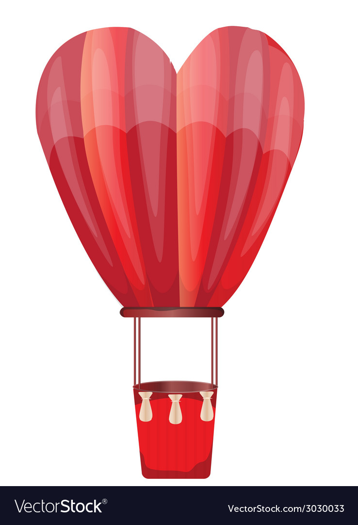 Heart hot air balloon vector | Price: 1 Credit (USD $1)