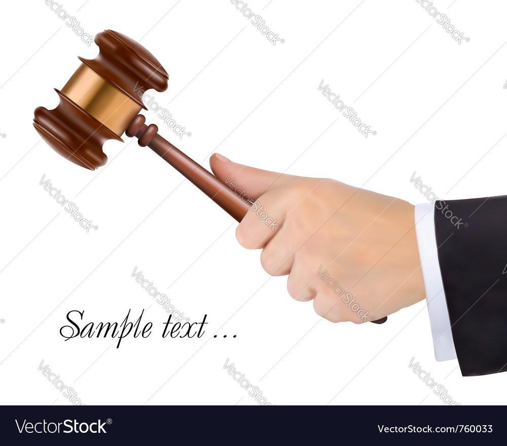 Judges gavel vector | Price: 3 Credit (USD $3)