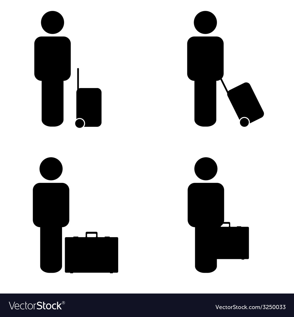 People travel icon vector | Price: 1 Credit (USD $1)