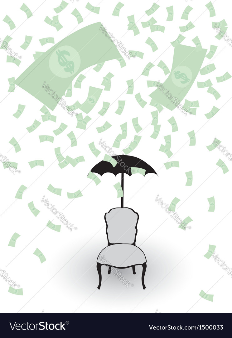 Rain from money vector | Price: 1 Credit (USD $1)