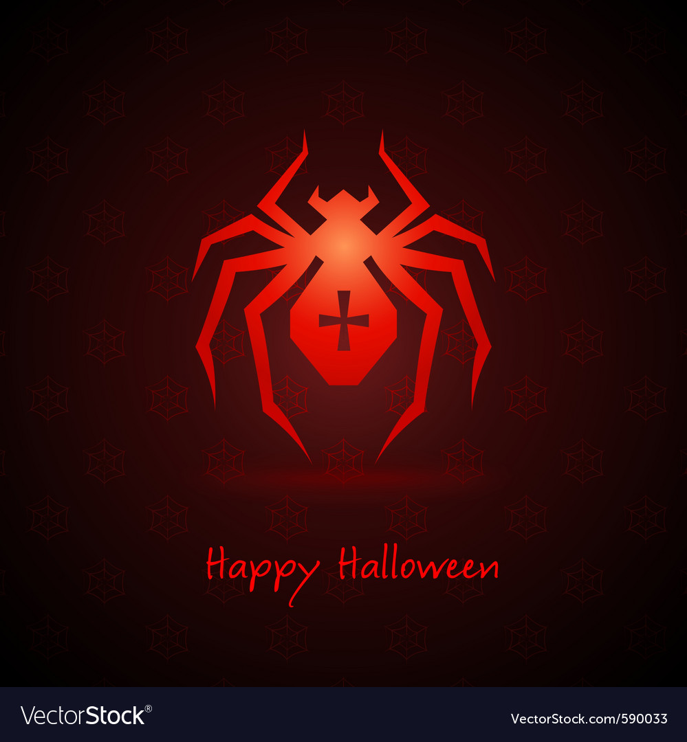 Spider for halloween vector | Price: 1 Credit (USD $1)