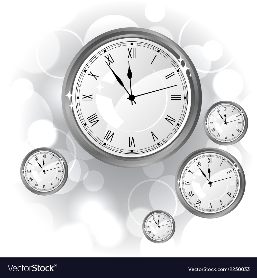 Stylish background with silver glossy watches vector | Price: 1 Credit (USD $1)