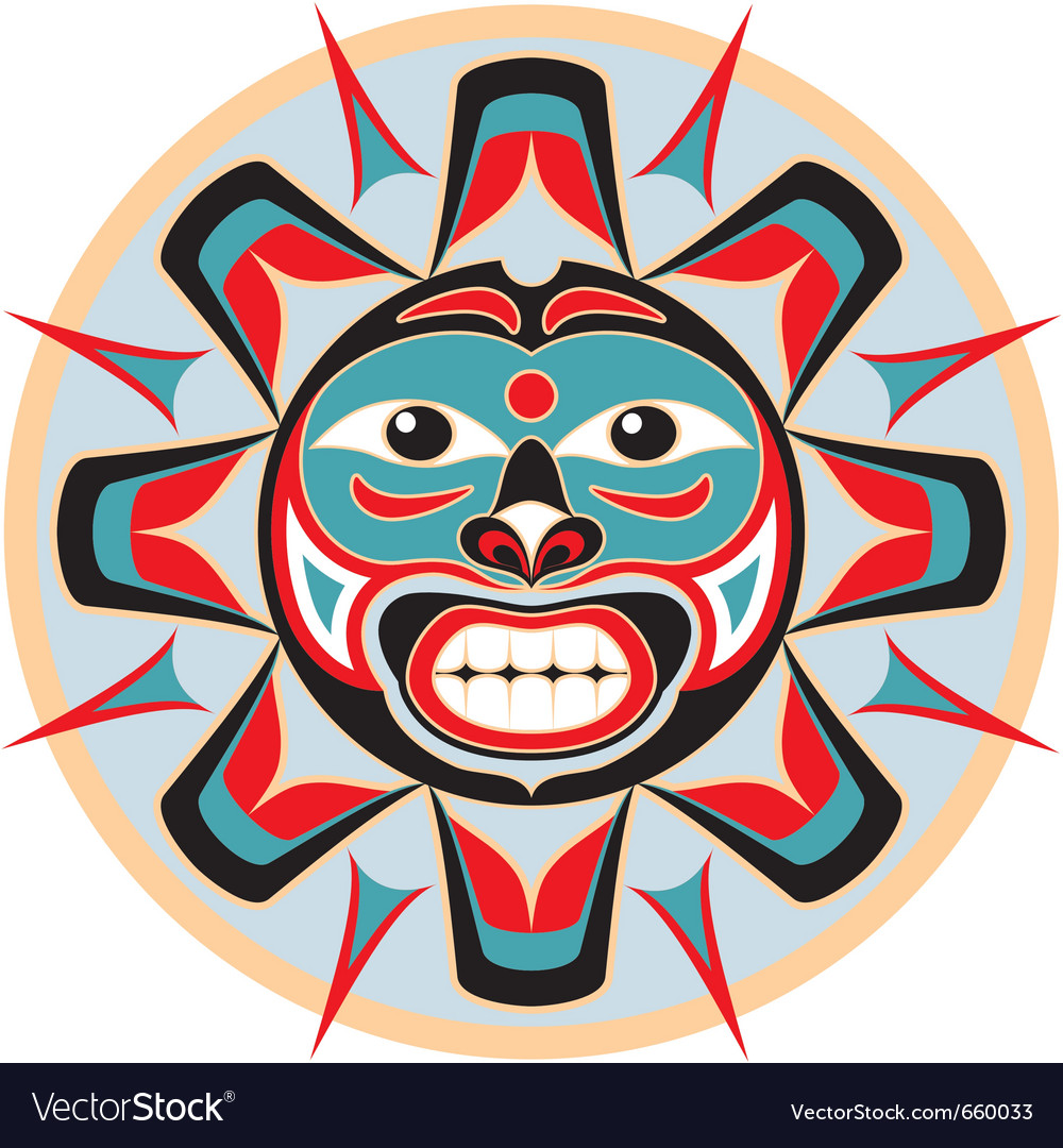Sun in native american style vector | Price: 1 Credit (USD $1)