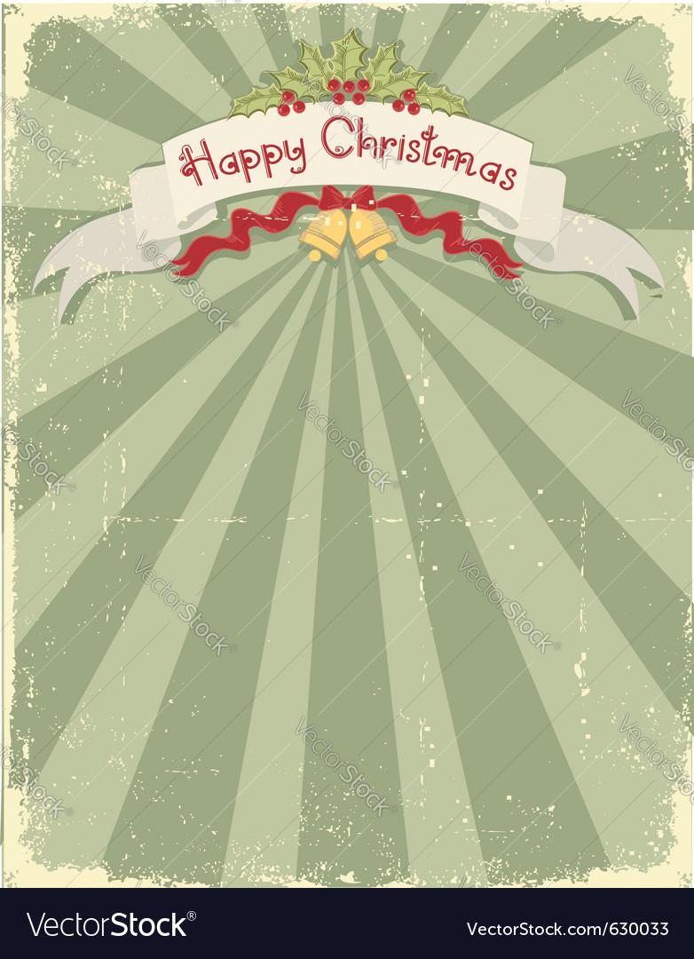 Vintage christmas card vector   Price: 1 Credit (USD $1)