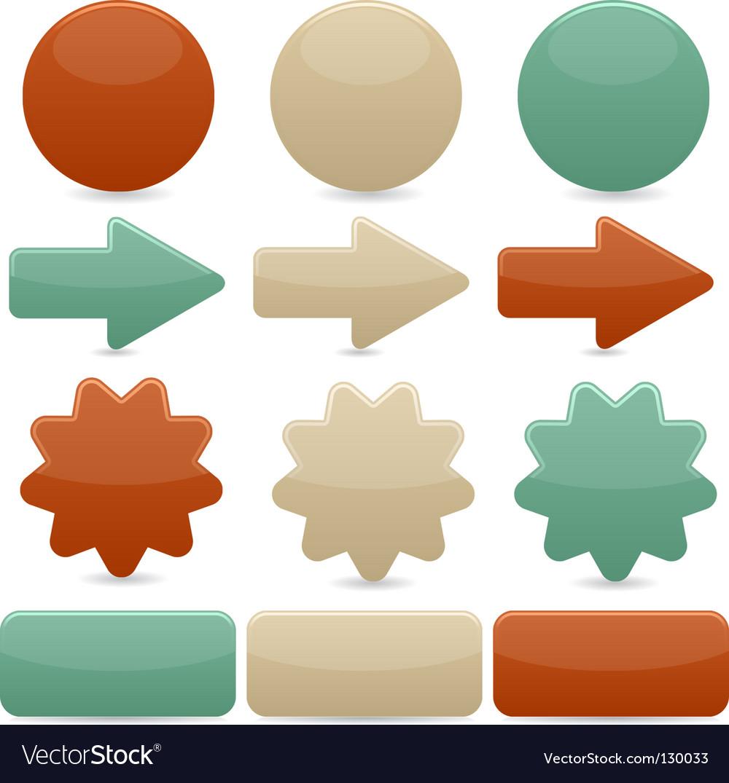 Web navigation vintage colors vector | Price: 1 Credit (USD $1)