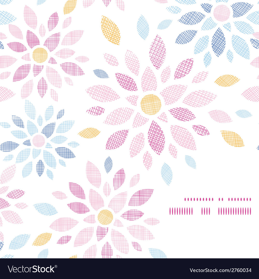 Abstract textile colorful flowers frame corner vector | Price: 1 Credit (USD $1)