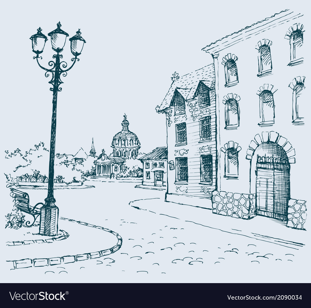 Architectural landscape vector | Price: 1 Credit (USD $1)