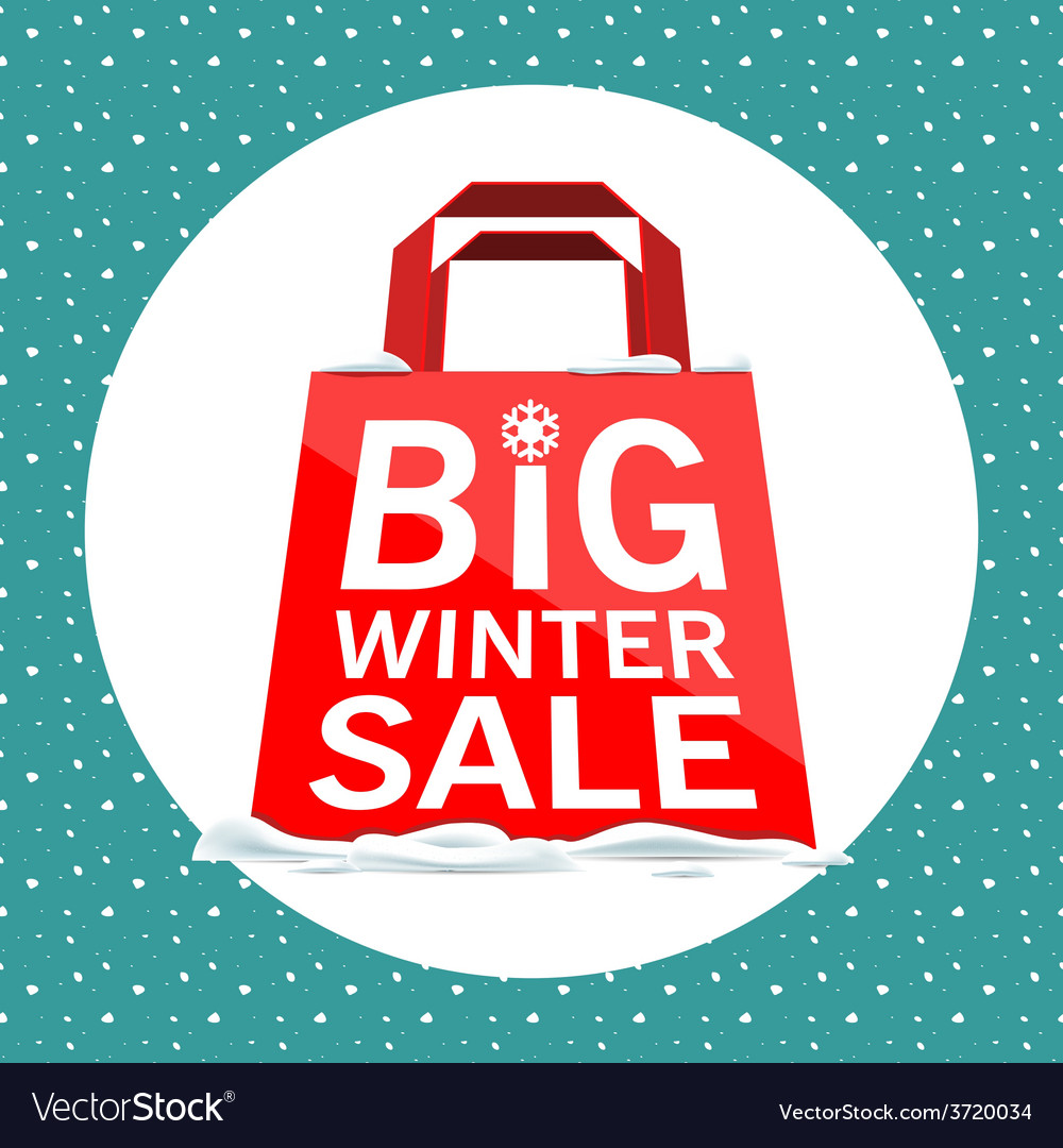 Big winter sale vector | Price: 1 Credit (USD $1)