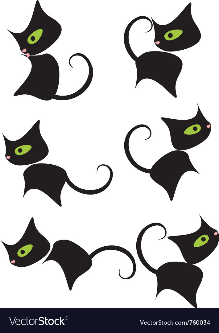 Black kitty vector | Price: 1 Credit (USD $1)