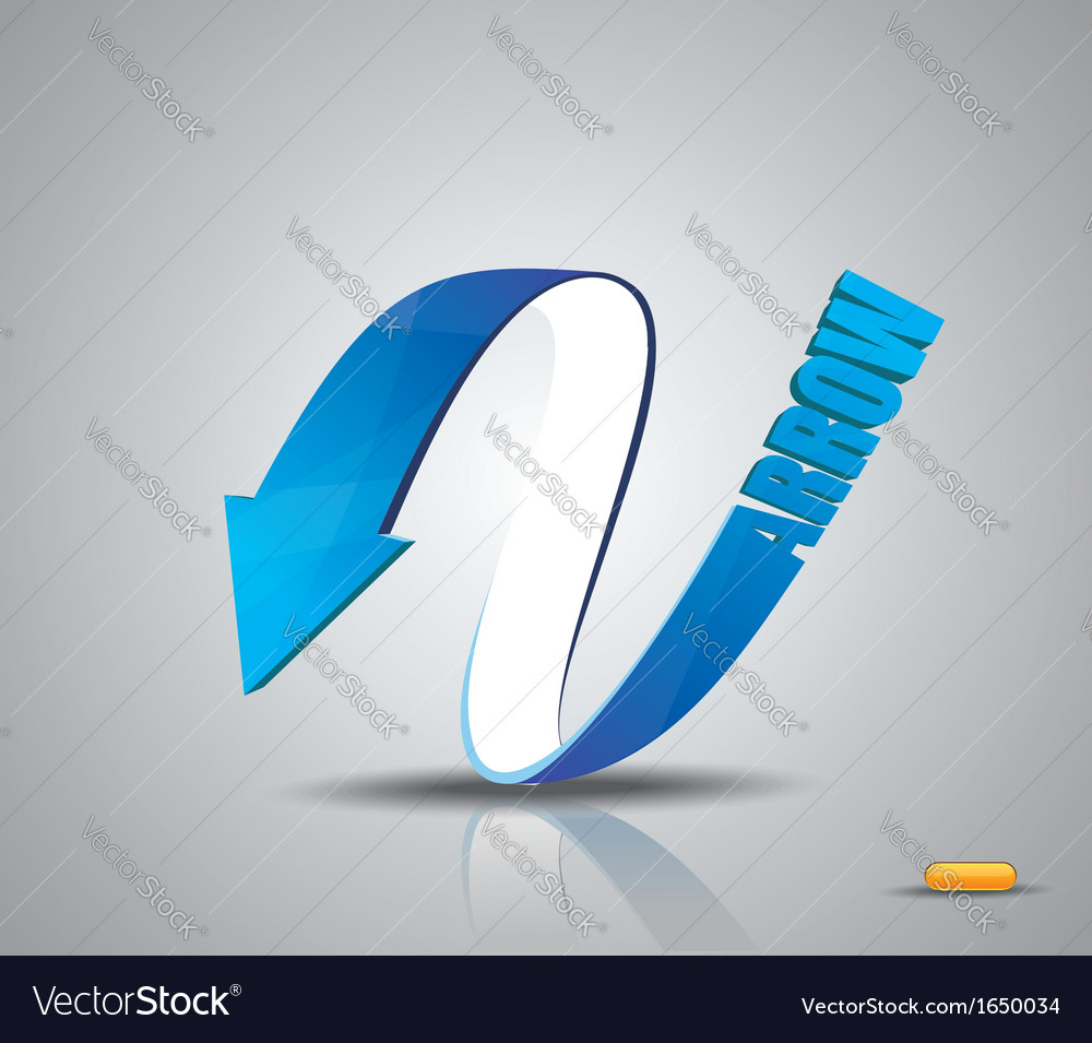 Blue arrow symbol vector | Price: 1 Credit (USD $1)