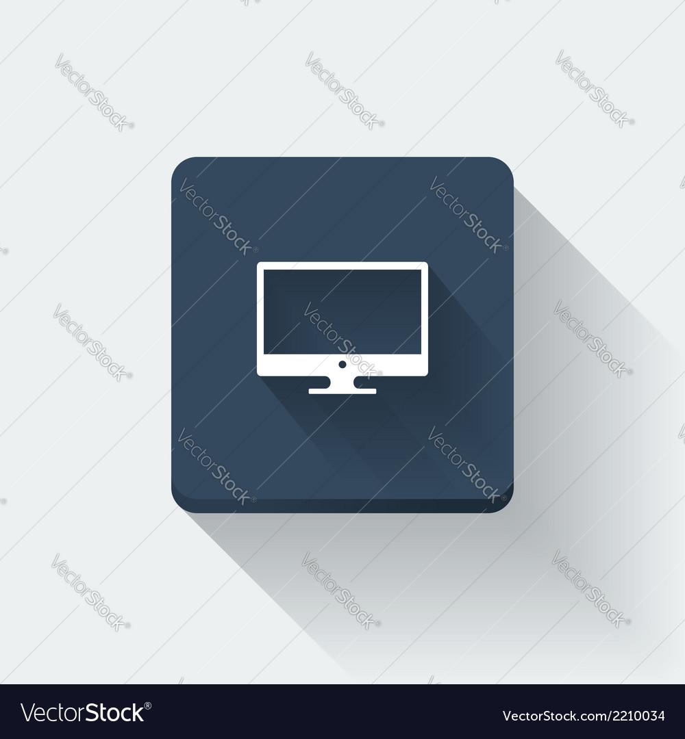 Computer icon vector | Price: 1 Credit (USD $1)