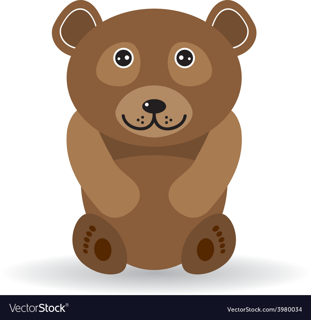 Funny bear on a white background vector | Price: 1 Credit (USD $1)