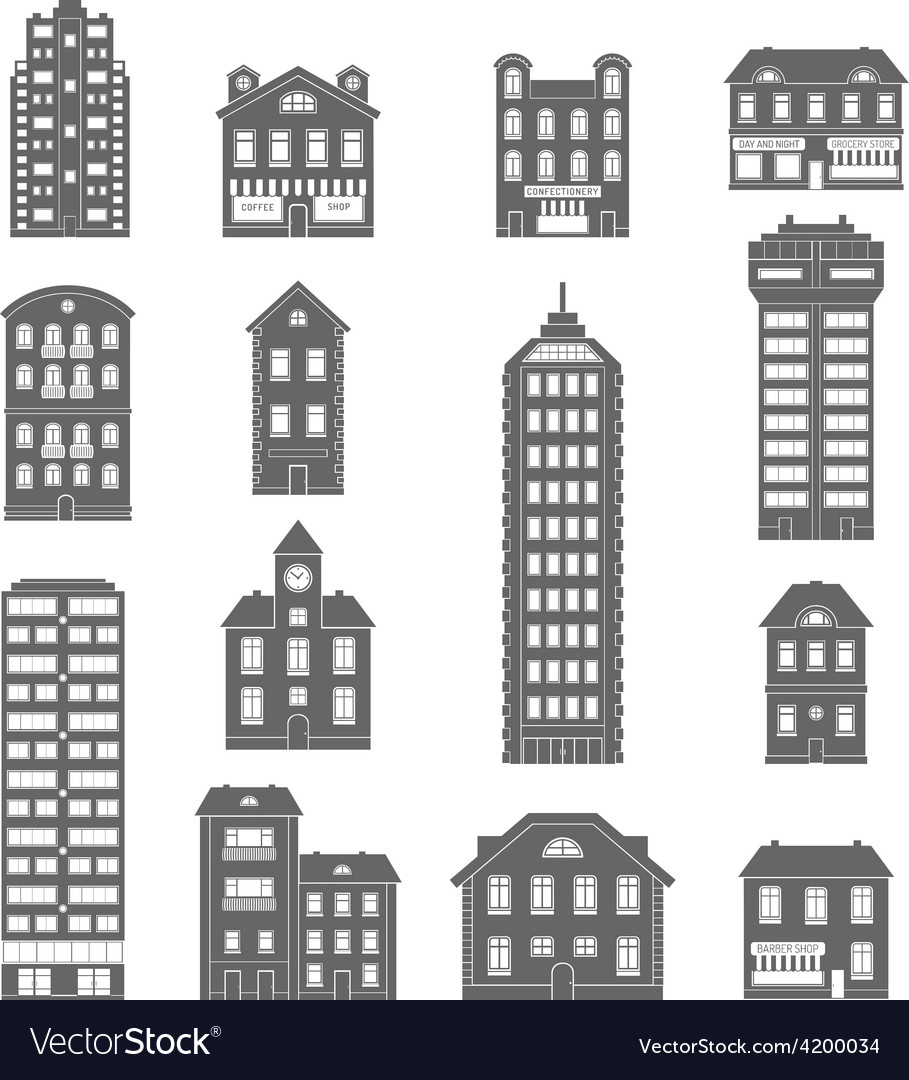 House icons black vector | Price: 1 Credit (USD $1)