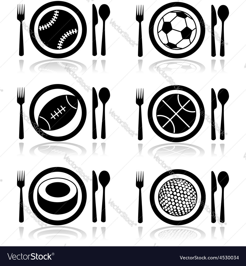 Hungry for sports vector | Price: 1 Credit (USD $1)