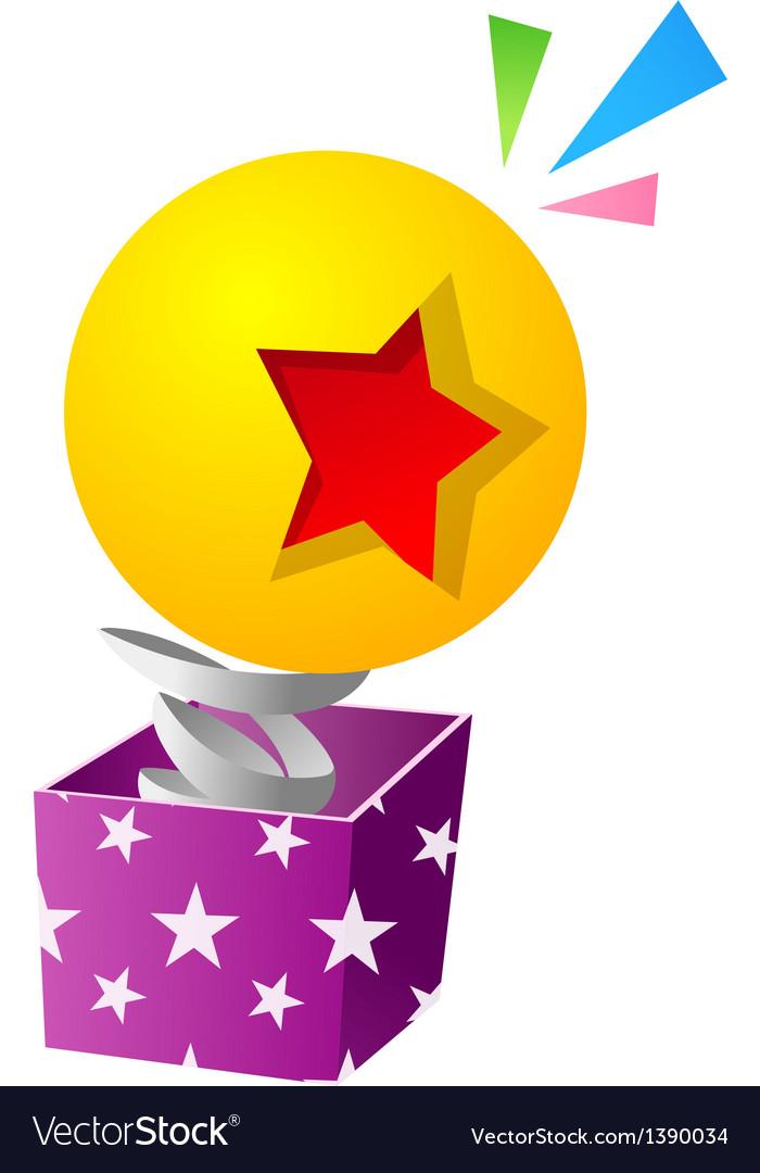 Icon toy box vector | Price: 1 Credit (USD $1)